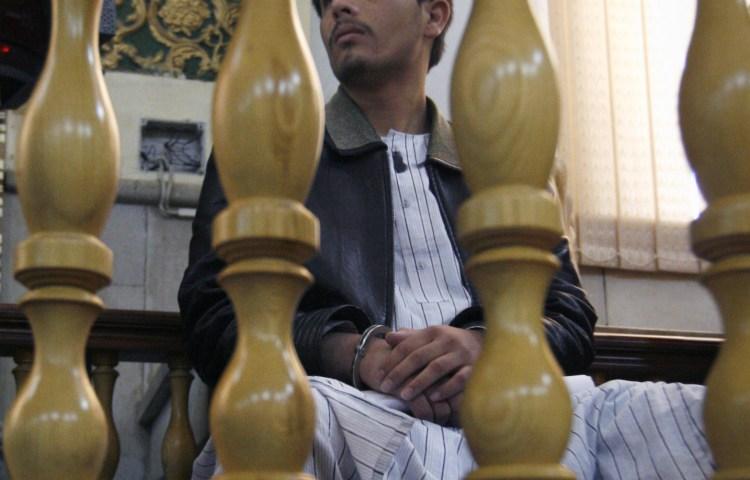 Parwez Kambakhsh in court in June. (AP Photo/Musadeq Sadeq)