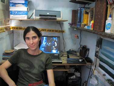 Yoani Sánchez, quien firma su blog, explica que la franqueza puede desarticular los esfuerzos del gobierno para acosar a los blogueros. (CPJ/Monica Campbell)
