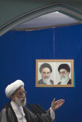 Ayatollah Ahmad Jannati heads Iran's Guardian Council, which this year approved the harsh Cyber Crime Penal Code. (Morteza Nikoubazl/Reuters)