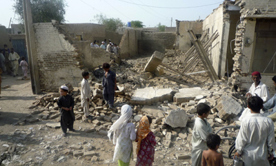 Local reporters finally confirmed that Taliban leader Baitullah Mehsud was killed in this missile strike. (AP)