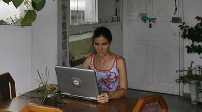 Yoani Sánchez at home in Cuba. (Reuters)