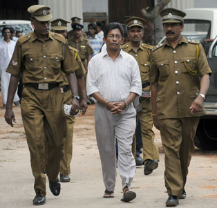 J.S. Tissainayagam, an online and print journalist in Sri Lanka, is serving 20 years on antistate charges. (AFP)