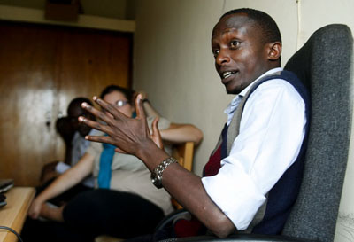 Rwandan editor Charles Kabonero fled to Uganda in 2009, but was pursued by Rwandan secuirty officials. (Phil Carpenter)