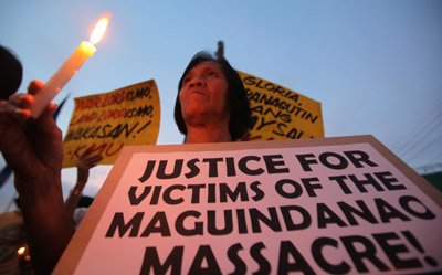 Across the Philippines, protesters call for justice in Maguindanao massacre. (AP/Bullit Marquez)