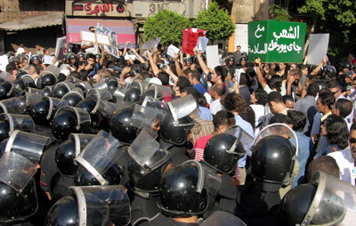 Reports of Egyptian police torture spark protests in Cairo. (Reuters/Mona Sharaf)
