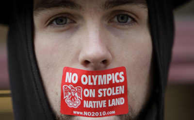 Native groups are among those protesting at the games. (AP)