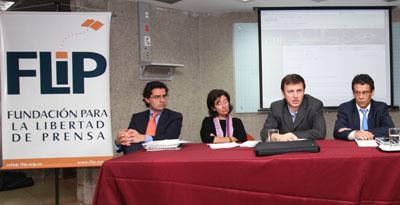 Left to right: Morales, Ronderos, Lauría, Gomez (Mauricio Esguerra)