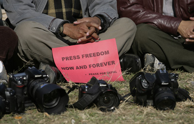 Local journalists are often caught in the crossfire of political instability and crime in Nepal. (Reuters)