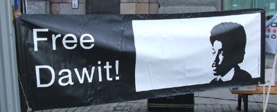 A banner in Gothenburg, Sweden. (Petra Jankov Picha)