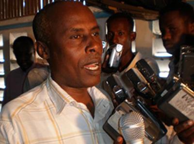 Mukhtar Mohamed Hirabe, assassiné le 8 juin 2009 à Mogadiscio en Somalie. (NUSOJ)