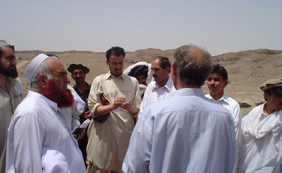 Khan on assignment in 2005. (CPJ)