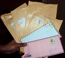 Tampered mail sent to the Awramba Times.