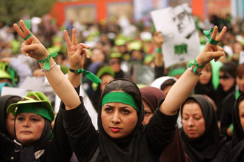 Kheirkhan's photographs of street protests were considered political criticism of Iranian clerics. (Mohammad Kheirkhan)