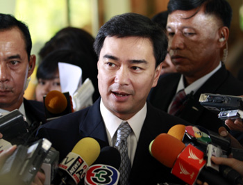 Abhisit's government faces many questions about the unrest, along with concerns about a press crackdown. (Reuters/Sukree Sukplang)
