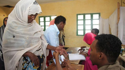 Voters at a Somaliland polling station on June 26. (Ahmed Kheyre)