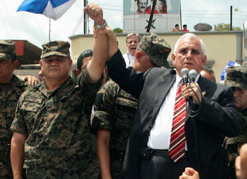 The military ousted Zelaya and installed an interim government led by Roberto Micheletti, right. (AP)