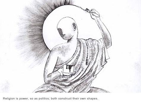A cartoon by Prageeth Eknelygoda.