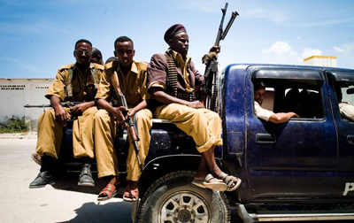 Clashes continue in Mogadishu as the government seeks to limit the reach of reporters. (AFP)