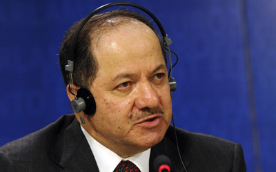 Barzani's KDP wants a to shut a newspaper that raised questions about its activities. (AP/Thierry Charlier)