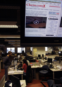 Clarín, seen here, is locked in a media war with Argentina's president. (AP)