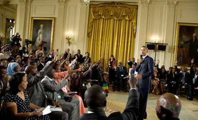 Obama's Young African Leaders Forum in Washington touched on press freedom. (America.gov)