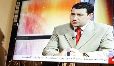 A clip of Riad al-Saray, an Al-Iraqiya anchor murdered in Baghdad. (AFP/Sabah Arar)