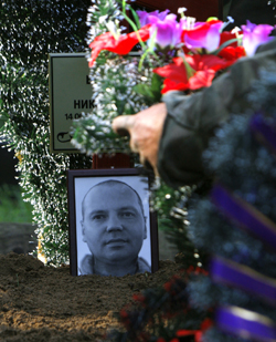 A memorial for Byabenin. (AP)