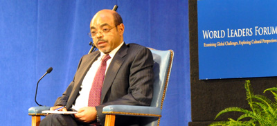 Choice is important, Zenawi says. But editors back home are not always free to make their own choices.