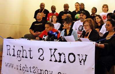 The Right2Know campaign opposes the government's secrecy bill. (Ghalib Galant)