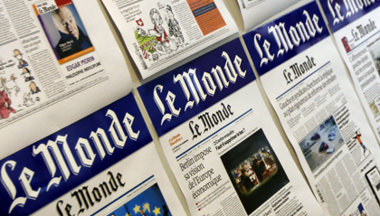 Le Monde claims spying, the Elysée Palace says the paper is playing partisan political games. (AP/Laurent Cipriani)
