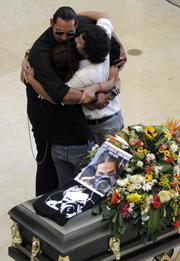 Santiago's funeral. (Reuters)