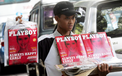 Playboy Indonesia faced harassment and was able publish only 10 issues. (Reuters/Supri)