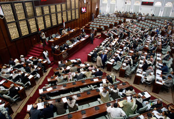 Parliament is considering three proposals that would tighten restrictions on the press. (Reuters/Khaled Abdullah)