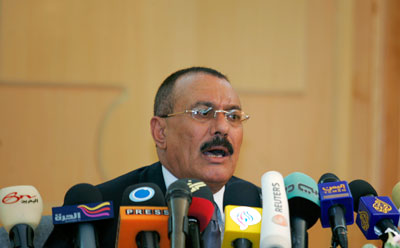 President Saleh's government is pairing violent repression with new legalistic tactics. (Reuters/Khaled Abdullah)