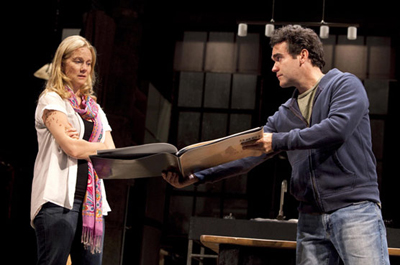 "Laura Linney and Brian D'Arcy James play  journalists pulled apart by their wartime experiences in ""Time Stands Still."" (Joan Marcus)"