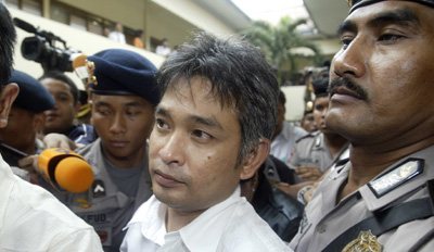 Arnada outside an earlier court hearing. (Reuters/Crack Palinggi)