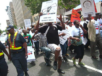 Right2Know protesters take to the streets of Johannesburg. (Media Monitoring Africa)