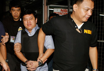 Andal Ampatuan Jr., the main suspect in the Maguindanao massacre, is on trial in Manila. (Reuters/Romeo Ranoco)