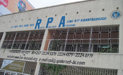 'The media is now considered part of the opposition,' a civil society leader told CPJ. Seen here is 'opposition' station Radio Publique Africaine, in Bujumbura. (CPJ)