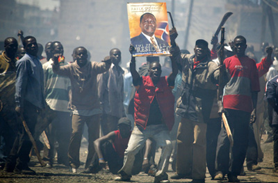 Post-election violence killed some 1,200 people in Kenya after 2007 elections, when opposition supporters accused incumbent President Mwai Kibaki and his supporters of election rigging. (Reuters)