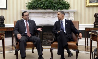 Zardari must address widespread anti-press violence. (AP/J. Scott Applewhite)