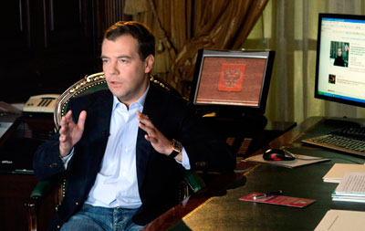 Russian President Dmitry Medvedev launched a blog but the Kremlin promised to tightly control who can comment on it. (Reuters)