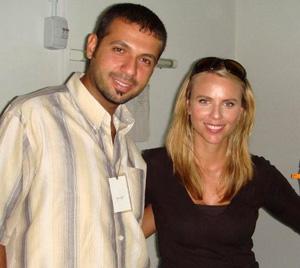 Jehad Ali and Lara Logan. (CPJ)
