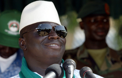 "No sacrifices to the ""altar of freedom of the press,"" says Jammeh. (AFP)"