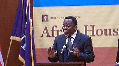 Motlanthe at NYU. (CPJ/Mohamed Keita)