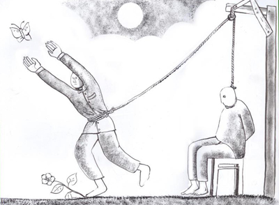 One of Prageeth Eknelygoda's last cartoons.