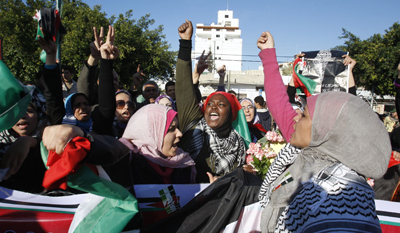 A rally calling for reconciliation between the rival Palestinian factions, Hamas in Gaza and Fatah in the West Bank, turned violent on Tuesday. (AP/Hatem Moussa)