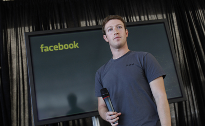 Michael Anti's anger with Facebook grew when he heard that the company hosts a page for the dog of founder Mark Zuckerberg, seen here. (Reuters)