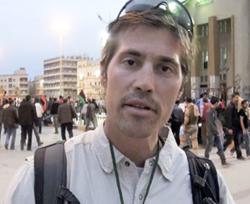 Foley reporting in Benghazi, Libya. (AP/GlobalPost)