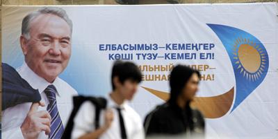 Publisher Daniyar Moldashev, below left, goes missing as Kazakhstan's election approaches. (Reuters, above; Respublika, below)